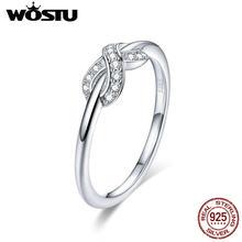 bdced1f921bd WOSTU europea Real 925 plata esterlina infinito amor CZ anillo de dedo para  las mujeres boda Anillos De Compromiso joyería de lu.