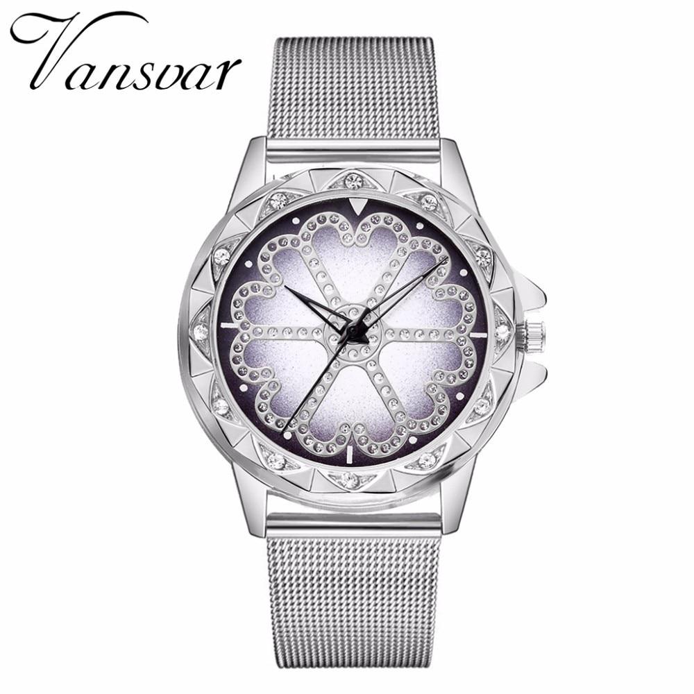 Hot Fashion Women Flower Rhinestone Wrist Watch Luxury Casual Rose Gold Steel Quartz Watch Relogio Feminino Drop Shipping  4