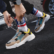 Men's Chunky Sneakers Dad Shoes Men Winter Classic With Fur High Platform Trainers Sneaker Black And White Sneakers Men Platform