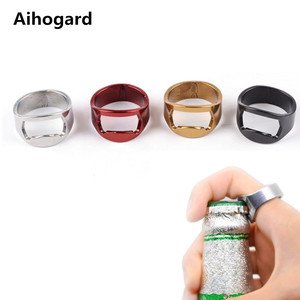 1pcs 22mm Mini Bottle Opener Stainless Steel Finger Ring Ring-shape Bottle Beer Cap Opening Remover Kitchen Gadgets Bar Tools(China)