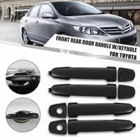 69211AA020 69211AA010 2 Pair FRONT & REAR Black Outside Exterior Door Handles for Toyota Highlander Yaris RAV4 Corolla Matrix