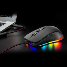 Wired Gaming Mouse 5 Adjustable DPI 4000DPI Gaming Mice with 6 Programmable Button and Breathing RGB Backlit for pc and game(China)