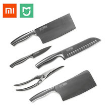 Xiaomi Mijia Huohou Steel Knife 6pcs Set Extreme Long-lasting Sharp German Din Molybdenum Vanadium Stainless Steel Kitchen Knife(China)