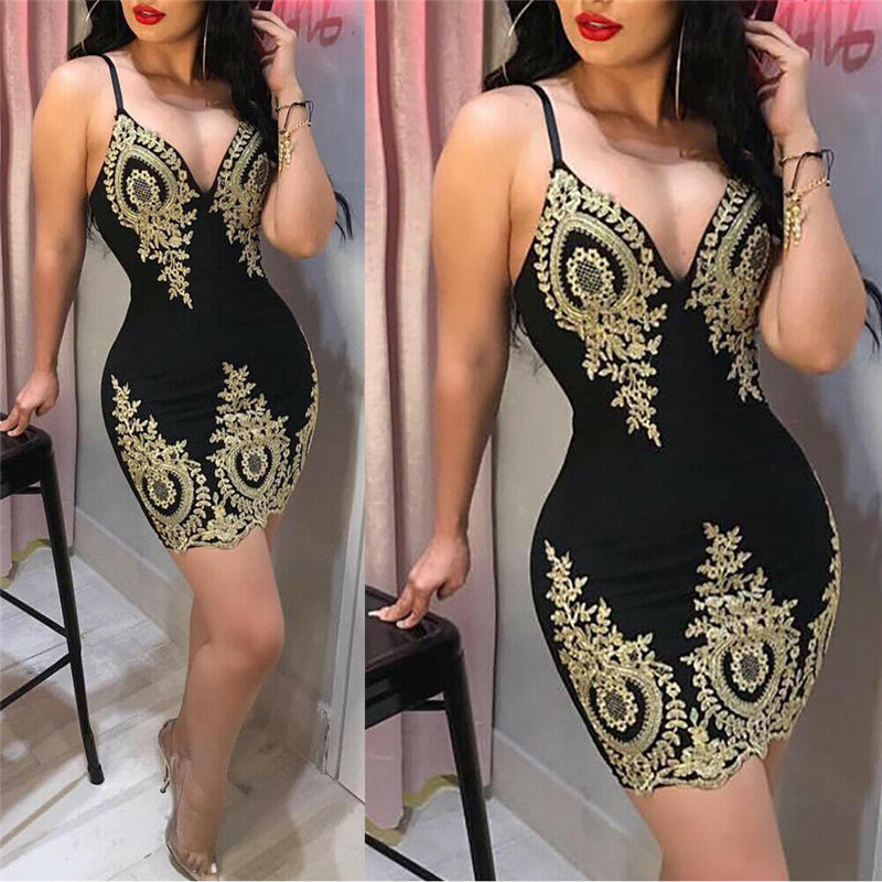 New 2019 Dress Fashion Women Summer Dress Women Bandage Bodycon Party  Casual Dress Club Short Mini Dress Clothes For Women S-XL