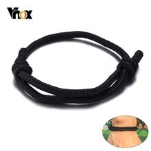 Vnox Simple Handmade Rope Bracelets for Women Man Kids Unisex Sports Wrist Jewelry Length Adjustable(China)