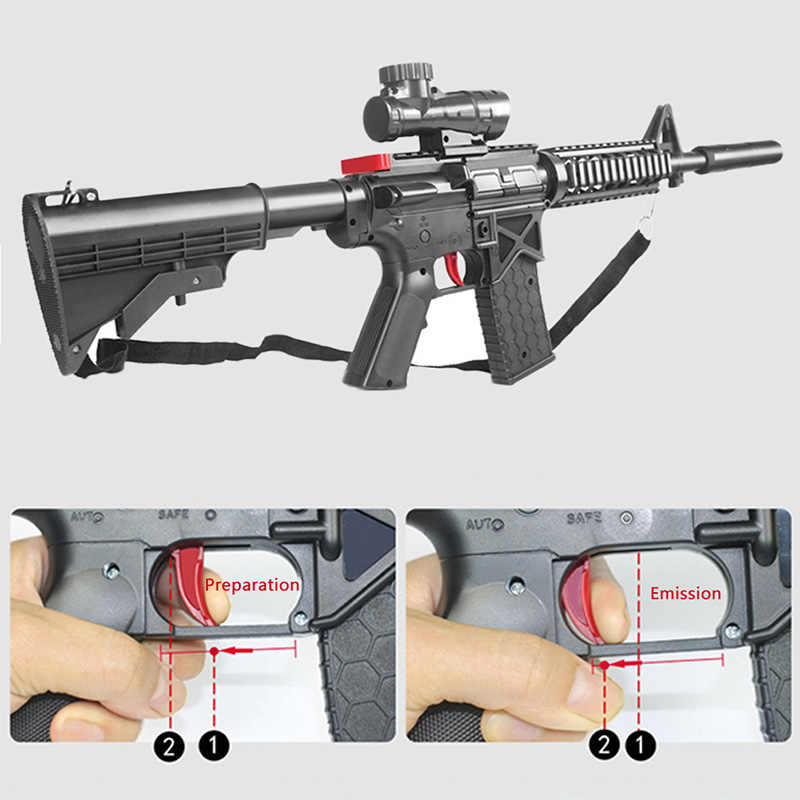 bff8d7db0319 Detail Feedback Questions about M4 Toy Rifle Gun 7 8MM Original Packaging  Airsoft Air Guns Building Block Brick Kids Outdoor Game Model CS Cosplay on  ...