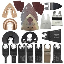цена на Retail 66 pcs oscillating tool saw blade accessories for multi function electric tool as Fein power tool etc,wood metal cutting