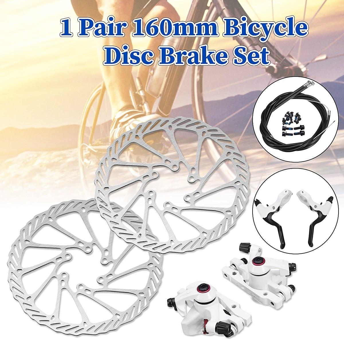 Jeu de freins à disque VTT frein à vélo frein à disque mécanique étrier avant étrier arrière 160mm ensemble de câbles de Rotor