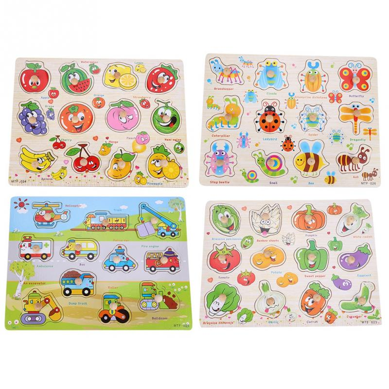 Wooden Kids Hand Grabbing Board Puzzle Toys Baby Developmental Educational Toy