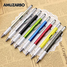 Многофункциональный 6 в 1 ручка-отвертка, металлический инструмент, подарок для школы, офиса, канцелярская ручка