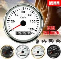 85mm120km/h GPS Speedometer Gauge Car Boat Motorcycle Auto Waterproof Universal Truck machine Speedometer Gauges 316L