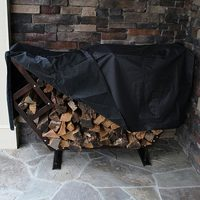Polyester Firewood Log Rack Protection Cover Outdoor Waterproof Dust Covers Home Garden Patio UV Rain Canopy 8ft 240X120X34cm