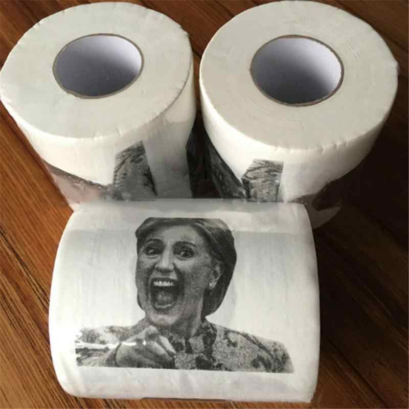 Шт. 1 шт. Лидер продаж! Дональд хьюмор Хиллари Клинтон туалетная бумага рулон Новинка Забавный кляп подарок дампа дропшиппинг
