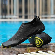 Mężczyźni pływanie trampki sporty outdoorowe nurkowanie buty do wody nadmorskie plażowe kapcie surfingowe szybkoschnące buty do wody w górę tanie tanio WANAYOU Pasuje prawda na wymiar weź swój normalny rozmiar Spring2018 Slip-on Początkujący Szybkoschnący Syntetyczny
