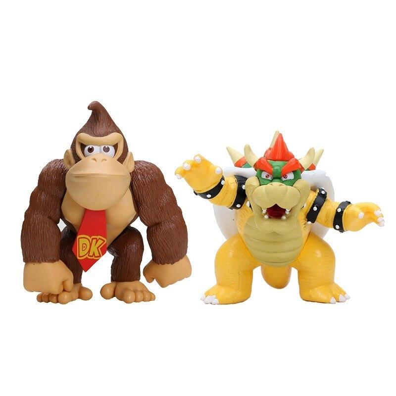 Super Mario Bros PVC Action Figure Model Toy DONKEY KONG Koopa Bowser Luigi Mario Yoshi Figure Toys Gift For Children Kids