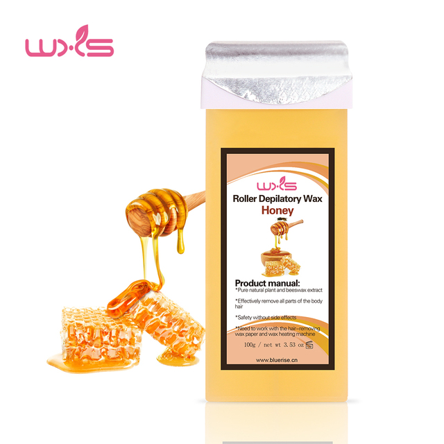 100g Depilatory Wax Cartridge Hair Removal Cream Beeswax 5 Flavor Strawberry Rose Chocolate Honey Roll-On Hot Wax All Types Skin 2