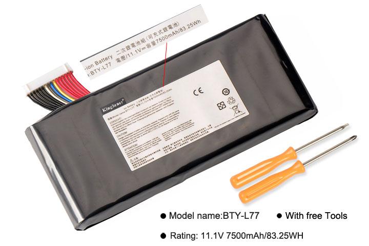 KingSener BTY-L77 batería para portátil MSI GT72 2QD GT72S 6QF GT80 2QE GT80S WT72 MS-1781 MS-1783 2PE-022CN 2QD-1019XCN 2QD-292XCN - 2