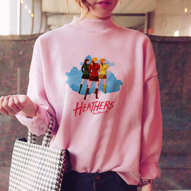 Heathers Hoodies Women Pink Kawaii Sweat Shirt Female Sweatshirt Female Sweat Shirt Oversized Winter