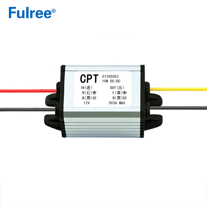 CPT <font><b>12V</b></font> to 5V 3A 15W Step Down DC-DC Voltage Converter <font><b>12</b></font> Volt to 5 Volt 3 <font><b>Amp</b></font> 15 Watt Buck Car <font><b>Power</b></font> <font><b>Supply</b></font> Module image