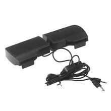 Mini Portatile USB Altoparlante Stereo Soundbar per il Taccuino Del Computer Portatile Mp3 Lettore Musicale Del Telefono Del Computer PC con la Clip Nero