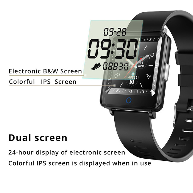 COLMI CV16 Dual Screen Smart Watch Men Clock IP67 Waterproof Activity Fitness Tracker Smartwatch For android IOS phone Smart Watches