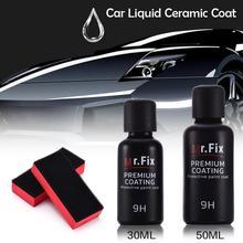 Revêtement en céramique liquide de voiture de vernis de voiture danti rayure Auto détaillant la peinture de revêtement en verre hydrophobe de lustre de dureté élevée de 9H