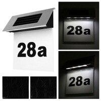 Из нержавеющей солнечной энергии Дом дверь дощечка с надписью номер светодиодный настенный светильник на открытом воздухе