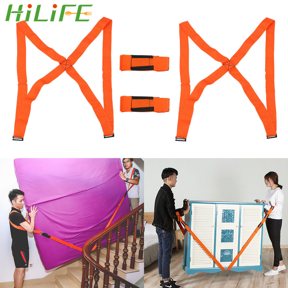 HILIFE Moving Strap Easier Mover Shoulder Straps Carrying Rope For Home Move House Cleaning 4pcs/set Furniture Transport Belt