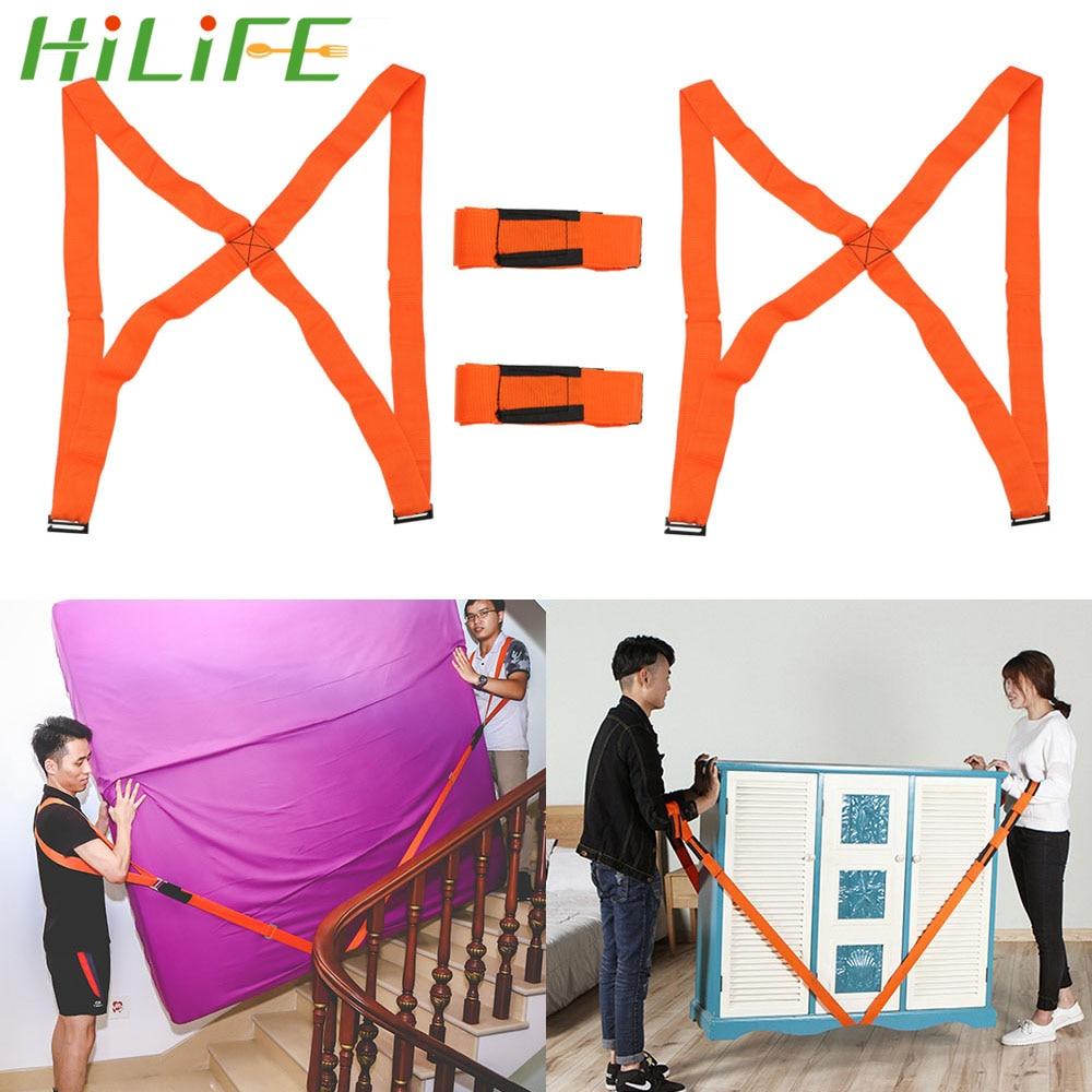 HILIFE Moving Strap Easier Mover Shoulder Straps Carrying Rope For Home Move House Cleaning 4pcs/set Furniture Transport Belt