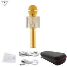 Get more info on the WS858 Professional Wireless karaoke Microphone Speaker Condenser Microfono with Bag Bluetooth Radio Studio Record Mic PK WS-858