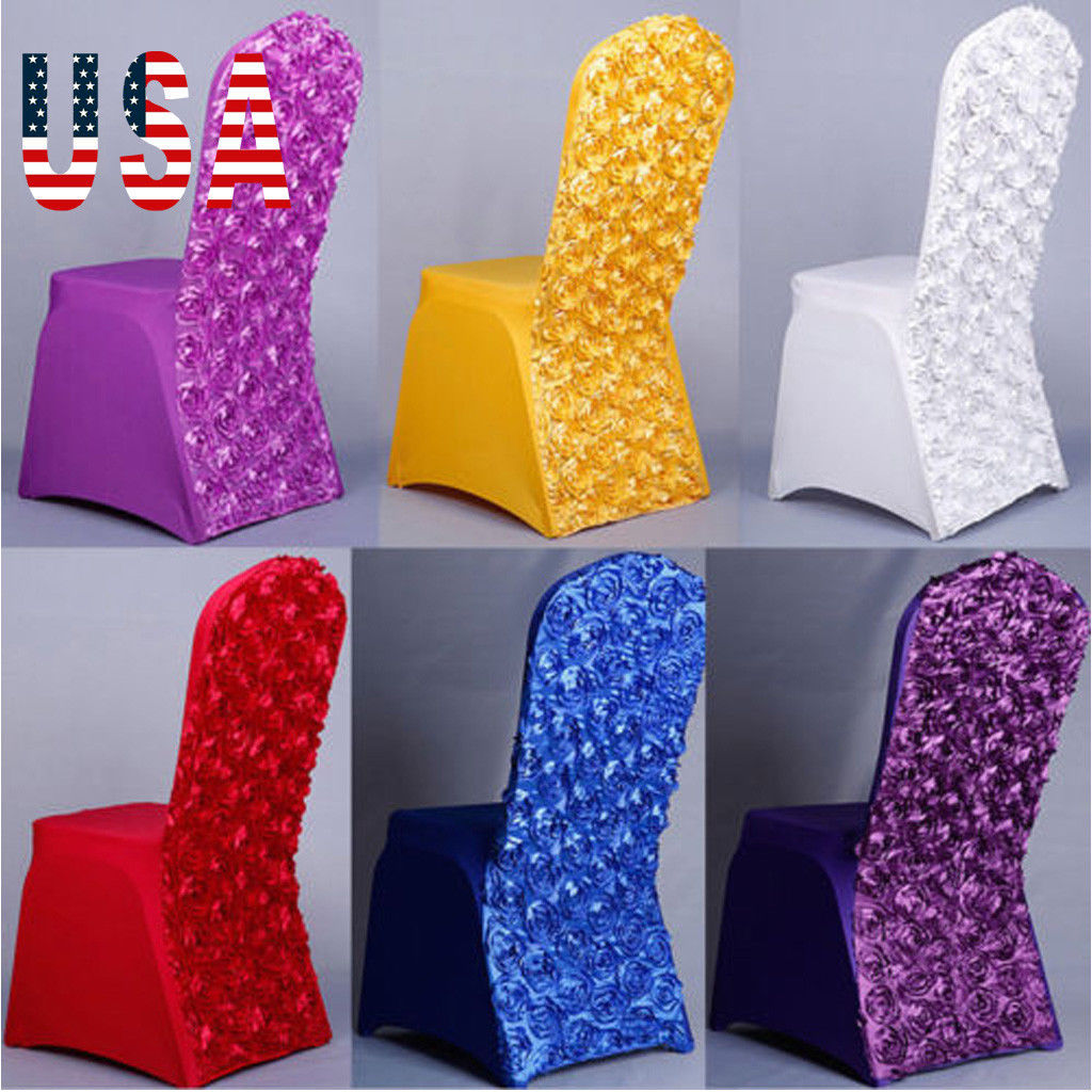 Inventive Marious Brand Spandex Rosette Chair Cover Office Chair Cover Wedding Party Chair Clothes Decoration Free Shipping Great Varieties Table & Sofa Linens Chair Cover