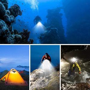 Image 5 - EastVita 50M Waterproof Underwater LED HighPower Flash Light For Gopro Canon SLR Cameras Fill Lamp Diving Video Lights Mount r29