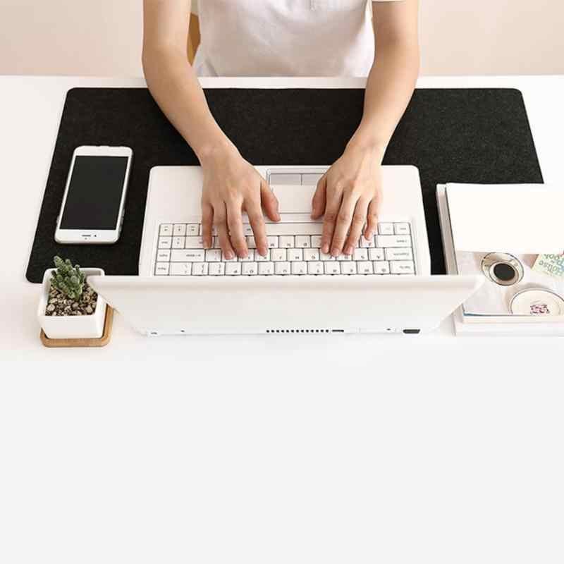 700x330mm cojín de escritorio de oficina grande teclado de mesa moderna alfombrilla de ratón de ordenador almohadilla de lana de fieltro cojín para ordenador portátil alfombrilla de escritorio para juegos alfombrilla de ratón