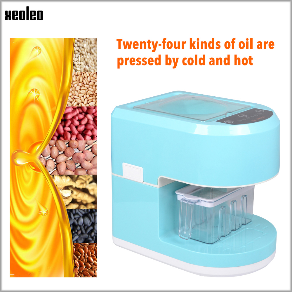 XEOLEO Oil Press Machine Household Oil Presser Peanut Oil Maker Hot Press Machine Automatic Oil Machineuse Use For Flaxseed 650W
