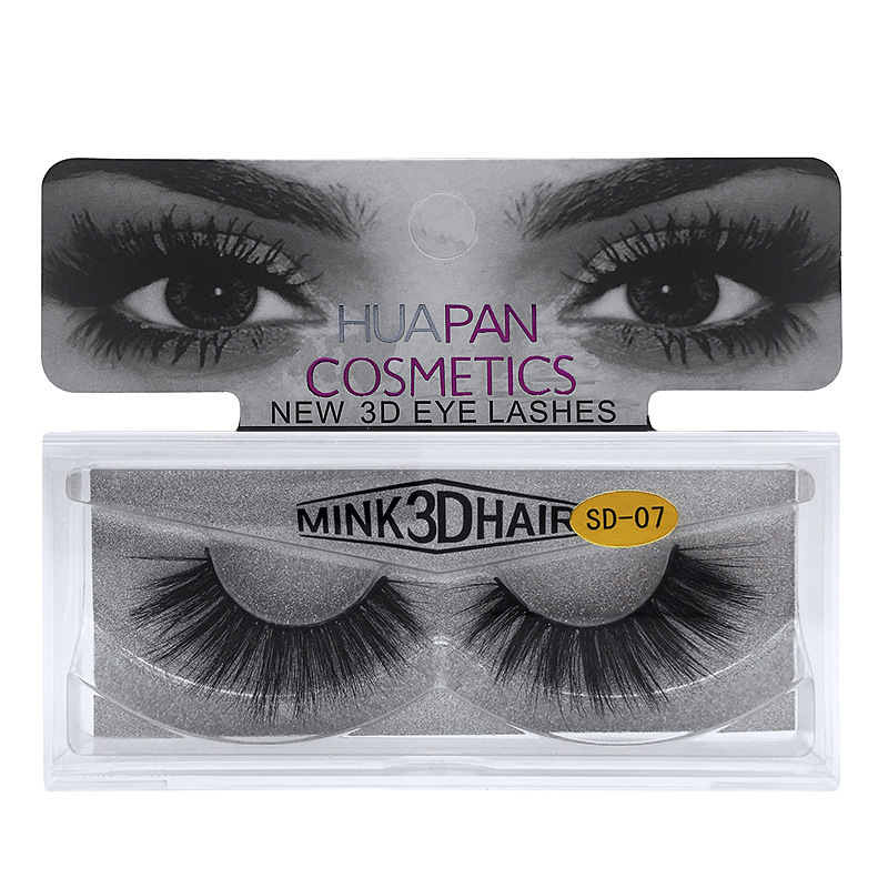 Thick Long Natural Eyelash Multilayer Fluffy Lightweight Soft Lashes Makeup Extension Lightweight With Box Handmade Reusable dn*