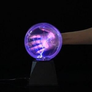 Image 5 - 6/8 インチのプラズマボールマジックスフィアライトニングライトランプクリスタルグローブタッチ星雲ライトクリスマスパーティーデコレーションライト