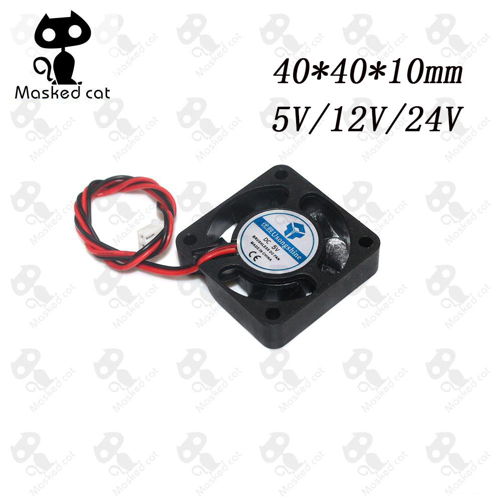 DC 5V/12V/24V Computer CPU Cooler Mini Cooling Fan 40MM 40x40x10mm Small Exhaust Fan for 3D Printer 4010 2 pin 40x40x10mm free shipping for sunon kde1204pfvx 11 ms af gn dc 12v 1 8w 2 wire 2 pin connector 60mm 40x40x10mm server cooling square fan