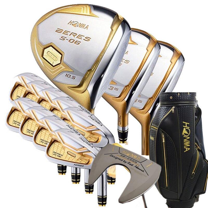 Clubs de Golf Ensemble Complet Honma Bere S-06 4 star club de golf ensembles Pilote + Fairway + fer + putter De Golf (14 pièce) + sac de Golf