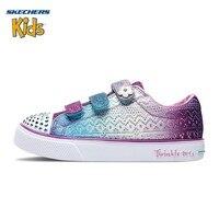 SKECHERS Skye странная девушка обуви новый шаблон детская обувь с фонариками свет качество прекрасный Повседневное кроссовки 10927L