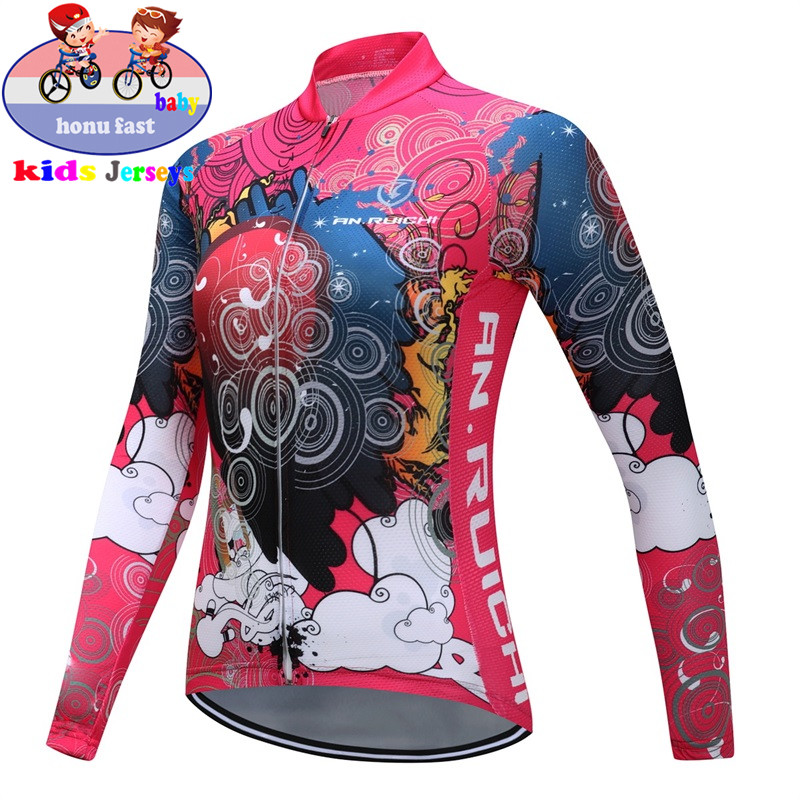 Clothing Bike-Jerseys Cycling-Clothes Thrasher Long-Sleeve Ciclismo Children Girl Roupa
