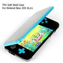 เกมTPU Soft Shell Gamepadโปร่งใสป้องกันที่อยู่อาศัยป้องกันผิวสำหรับNintendo New 2DS XL LL