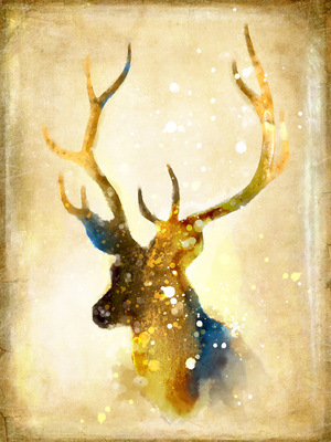 Golden Elk New Nordic Ins Style Decoration Painting Wall Pictures for Living Room Oil Canvas Anime Poster Art Print 1