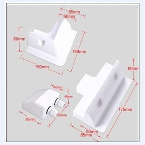 Image 4 - 1 conjunto de kit de suporte de montagem, placa solar abs, cabo de cor branca, entrada gand, ideal para 7 peças de um conjunto para caravan motorhome rv
