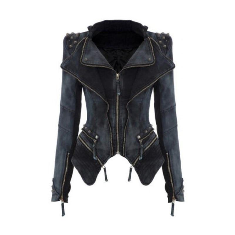 Wanita Denim Jaket gaya baru 6XL Tops Musim Gugur musim dingin mode - Pakaian Wanita - Foto 1