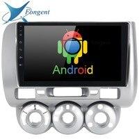 9 2.5D ips Android DVD мультимедийный плеер для honda Fit jazz 2004 2005 2006 2007 аудио Радио стерео gps навигатор, навигация