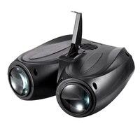 Taşınabilir Müzik Oto/Ses Actived 128 LED RGBW Işıkları Çift Kafa Lazer Sahne Etkisi Aydınlatma club disko ışığı DJ Parti Bar KTV Wedd Sahne Aydınlatması Efekti    -