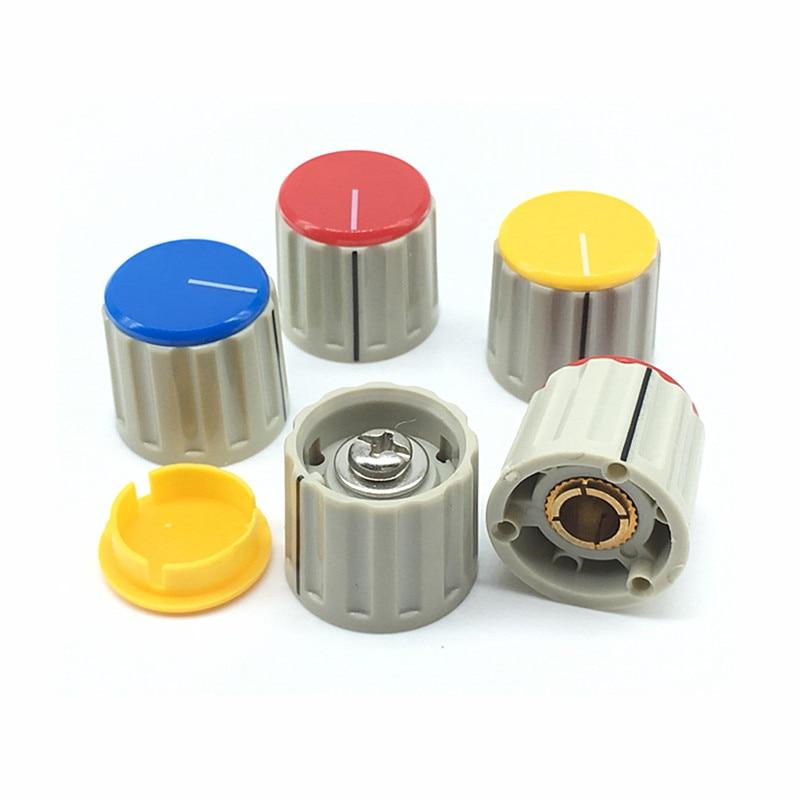 2pcs/lot Potentiometer Knobs 21*14.5MM 110E Flip Lock Screw Potentiometer Cap 6.4MM