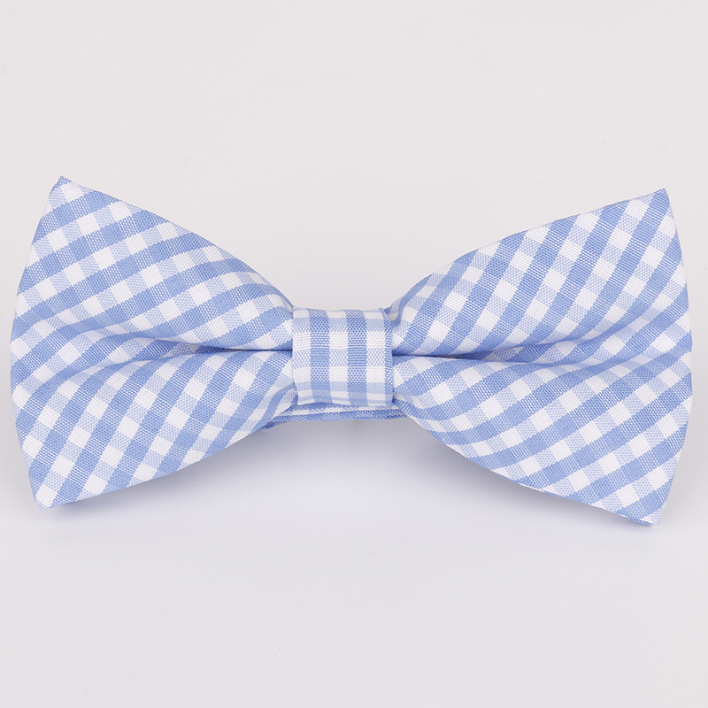 2019 New Spot Childrens Bow Tie Cotton Cotton Small Plaid Children Show Photo Shirt With Baby Bow Tie Flower Firm In Structure Boy's Tie
