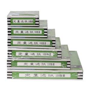 Image 4 - Dia 18cm 100 unids/caja papel de filtro de laboratorio redondo papel de filtro cuantitativo para embudo con rápido/Medio/lento velocidad 1 box/pack