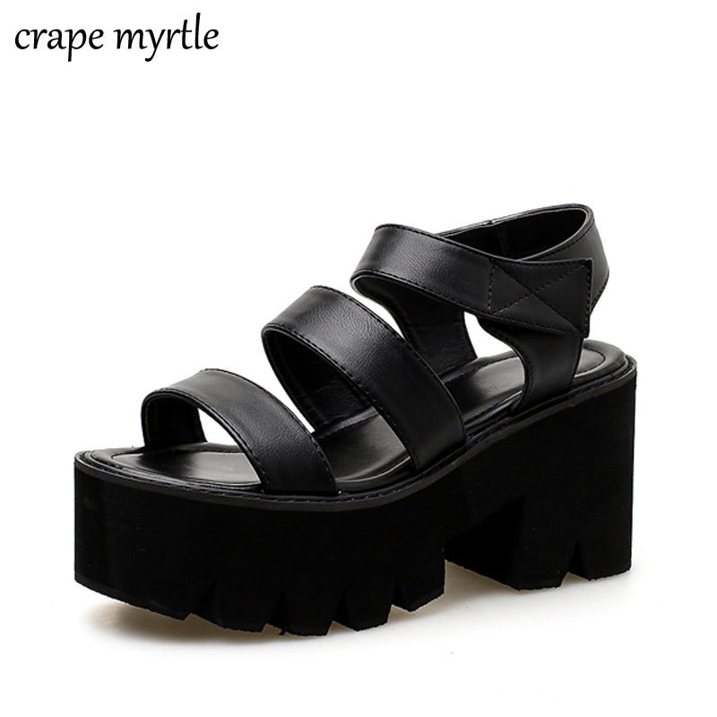 Platform Shoes Gladiator Sandals Women Summer Shoes Ankle Strap Heels Black Heel Sandals Women Womens Strappy Heels YMA705